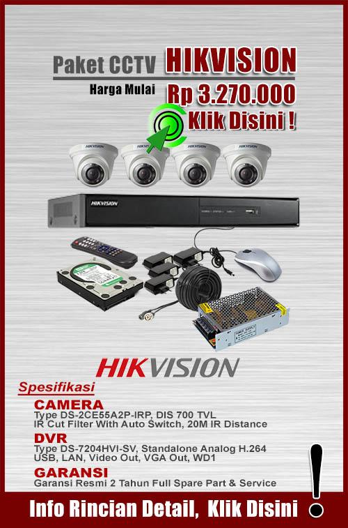 paket cctv murah hikvision